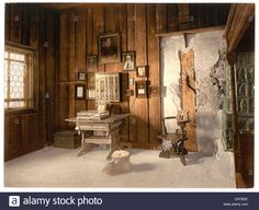 Luther's Study, Wartburg, Thuringia, Germany. Date Between Ca. 1890 Stock Photo, Royalty Free Image: 83140944 - Alamy