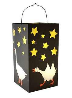 Folding lantern, black - Black folding lantern with geese prickle pads - Autumn Activities, Art Activities, Hl Martin, Diy For Kids, Crafts For Kids, Ribbon Crafts, Paper Crafts, Book Page Wreath, Envelope Art