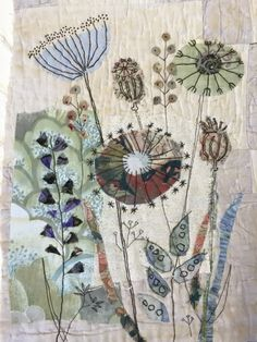 Mandy Pattullo seed head inspired class Source by benjiebunnie Free Motion Embroidery, Embroidery Applique, Embroidery Stitches, Embroidery Patterns, Machine Embroidery, Quilting Patterns, Quilting Ideas, Flower Embroidery, Paper Embroidery
