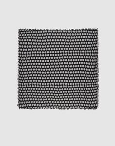"Black polka dot scarf     CODELLO  100% Cotton  40.2"" x 40.2""  $29"