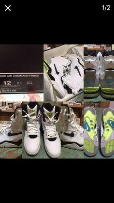 best website 562e4 14e6c Nike Air Command Force Pump Shoes (David Robinson SZ 12 White Volt  Basketball)