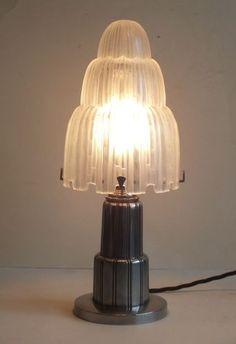 1920s bronze sabino lamp