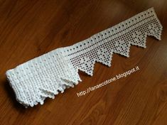 How to Crochet Wave Fan Edging Border Stitch Filet Crochet, Crochet Borders, Irish Crochet, Hand Crochet, Crochet Lace, Baby Knitting Patterns, Crochet Patterns, Lace Border, Chrochet