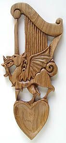 Welsh Lovespoons from The Harp and Dragon store