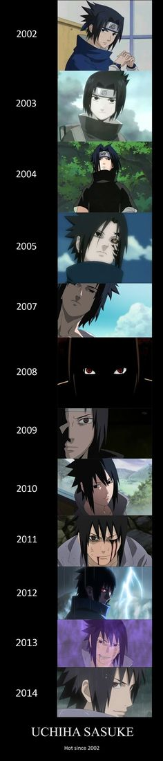 Sasuke Uchiha Hot Since 2002~~ XD I'm not a Sasuke fangirl, but this is funny!