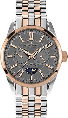 4c07c531e82 Jacques Lemans Liverpool 1-1804G Mens Wristwatch Lunar Phase Indicator