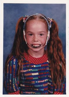 """Bad School Photos. However, this girl looks like the RL version of that girl from """"Finding Nemo."""" LOL"""