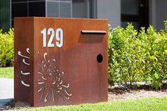 Custom Letterbox Design, Rust Finish Letterbox