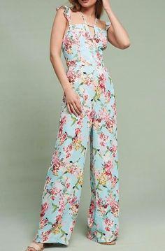 Anthropologie Floral Flutter Jumpsuit by Adelyn Rae Sz S, L - NWT | eBay