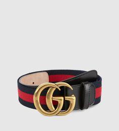 nylon web belt with double G buckle