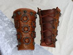 Viking Bracers by Gregory Foster https://www.facebook.com/pages/Merchant-Ship-Collective-Handcrafted-Leather-Goods/324573145922 :)
