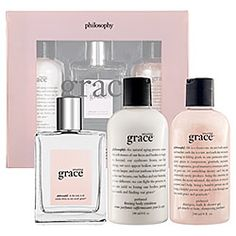 Amazing Grace Fragrance, Bubble Bath, and Body Emulsion by Philosophy..love this scent.