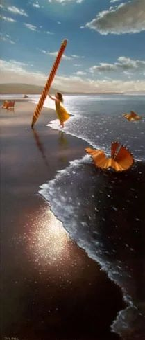 Pencil Parings by Jimmy Lawlor - PRINT - The Keeling Gallery. For more great pins go to Kasey Bella Pepper Fox Foto Effects, Jimmy Lawlor, Surrealism Painting, Surreal Art, Beach Art, Art Forms, Collage Art, Painting & Drawing, Fantasy Art