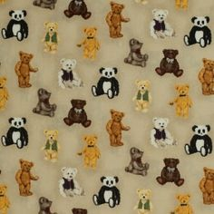 Small Spaced Bears - Materiale textile online