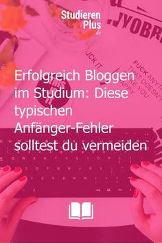 Durch Bloggen im Studium wirst du dir diverse Fähigkeiten aneignen, die dich später in deiner Karriere weiterbringen können. Wenn auch du einen Blog starten möchtest, dann lernst du in diesem Beitrag, was deine ersten Schritte sein sollten, welche typischen Anfänger-Fehler du vermeiden solltest und welche Vorteile ein studentischer Blog für deine Zukunft haben kann. Schau vorbei! #blog #bloggen #studium #studentenblog Content Management System, To Study, Compound Words, Blog Topics, Scientia Potentia Est