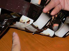 Vinopunottu kahvipussikori | Käsitöitä ja Puutarhanhoitoa Crafts, Manualidades, Handmade Crafts, Craft, Arts And Crafts, Artesanato, Handicraft