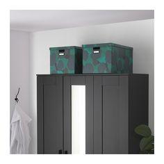 TJENA Caja con tapa - negro-azul, 50x35x30 cm - IKEA