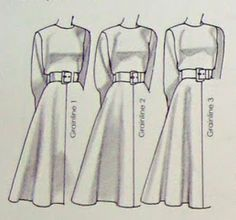 Just Skirts and Dresses: Sewing tip: the grainline of skirts affects the flare!