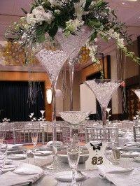 Trio of Martini Glasses