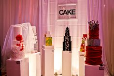 Wedding cake display idea at Wedluxe