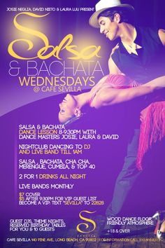 Cafe Sevilla, Long Beach!  Every Wednesday is Salsa & Bachata Night!