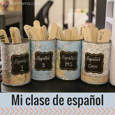 My Spanish Classroom My Spanish Classroom. A tour of my high school / middle school classroom with some helpful ideas for decor organization and management! The post My Spanish Classroom appeared first on School Ideas. Spanish Teacher, Teaching Spanish, Spanish Activities, Learning Activities, Spanish Games, Stem Activities, Spanish Classroom Decor, Classroom Ideas, History Classroom
