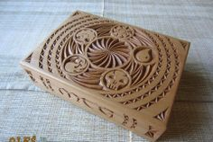 awesome chip carving style MTG card box