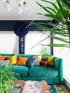 The Justina Blakeney X Jonathan Louis Mor sofa shot by Dabito