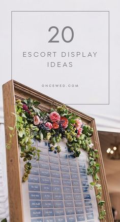 One of the best things about wedding decor is expressing a couple's personality. Here are 20 escort display ideas elegant brides will love! #weddingdecorideas #diyweddingescortdisplay
