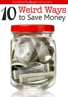 10 Weird Ways to Save Money - Not interested in couponing or other conventional ways to save money? Give a few of these new (and slightly weird) ways to save money a try. I assure you they work!
