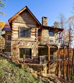 Timber Frame Homes, Timber House, Timber Frames, Lookout Tower, Log Cabin Homes, Log Cabins, H & M Home, Mountain Homes, Story Mountain