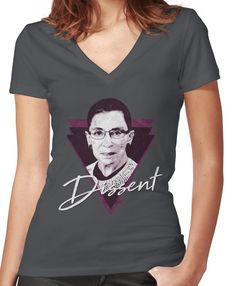 b5288a471 RBG Ruth Bader Ginsburg Resist Dissent Women's Fitted V-Neck T-Shirt