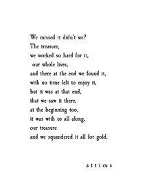'Gold' #atticuspoetry