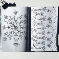62 + 63/365 more ink motifs in the sketchbook today. Surface pattern design studies in black and white. Hand-drawn by Two if by Sea Studios