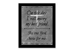 Wedding print. On thi day I will marry my by GrapevineDesignShop