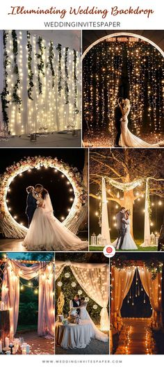 The ceremony backdrop is the focal point of the moment when you exchange vows and draw the catch of all guests all day. Ceremony Backdrop, Vows, Color Pop, Backdrops, Wedding Decorations, Bloom, In This Moment, Celestial, Wedding Dresses