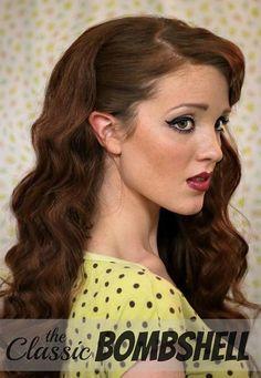 DIY Vintage Hairstyles: Pin-Up Retro Hairstyle Tutorial #retrohair #vintagehairstyles #vintage