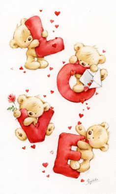 Edymasi Live🌿and🍃Love — seasonalwonderment: ~ Happy Valentine's Day! Tatty Teddy, Cute Images, Cute Pictures, Calin Gif, Blue Nose Friends, Love Bear, Cute Teddy Bears, Teddy Bear Cartoon, Cute Illustration