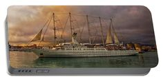 Wind Surf Portable Battery Charger featuring the photograph Wind Surf  by Hanny…