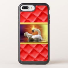White Swan in a lake with a orange gold sunset Speck iPhone Case - #chic gifts diy elegant gift ideas personalize