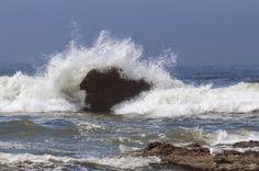 waves crashing on rocks drawing - Google Search