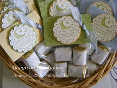 Baby Shower Favors Close Up by janeliquore - Cards and Paper Crafts at Splitcoaststampers