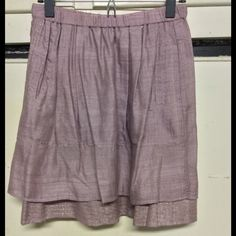 Linen silk Anthro skirt w/tags XS XS, with tags..I held on to this one because of the beautiful fabric! But time to let it go...beautiful pale lavender and gold. One September. Anthropologie Skirts