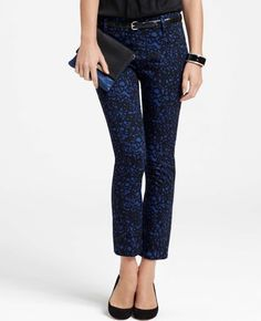 Squiggle Print Cropped Pants