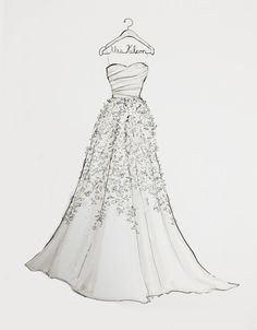 Custom Wedding Dress Sketch by DrawtheDress on Etsy, $50.00 .... i just got mine back and it brought tears to my eyes. it was AMAZING