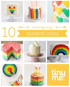 It's sunshine, lollipops and rainbow cakes everywhere with this collection of gorgeous cakes! - 10 Rainbow Cakes - Tinyme Blog