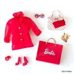 Red is the color of love and I just ADORE this monochromatic look! ❤️ #barbie #barbiestyle