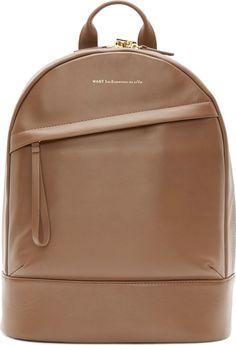 Want Les Essentiels De La Vie: Mocha Leather Piper Backpack