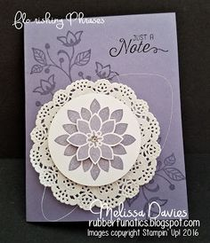 Stampin' Up! Flourishing Phrases by Melissa Davies @rubberfunatics #rubberfunatics #flourishingphrases #stampinup
