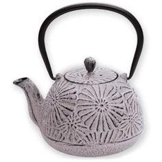 Japanese Tetsubin Vintage Floral Cast Iron Teapot